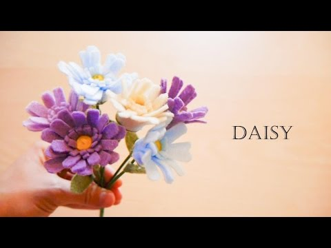 How to make felt flowers - Daisy (easy!)