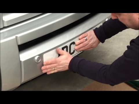 How to attach a car number plate