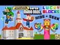 MARIO LUIGI PRINCESS PEACH Play MINECRAFT Lucky Block Hide Seek FGTEEV Challenge