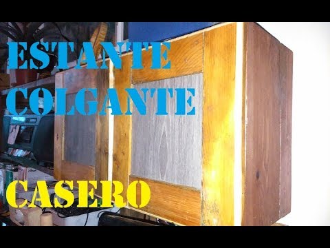 Estante colgante Casero reciclando paletas