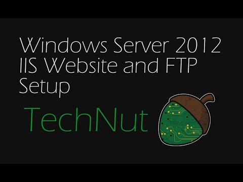 Windows Server 2012: IIS Website and FTP Setup