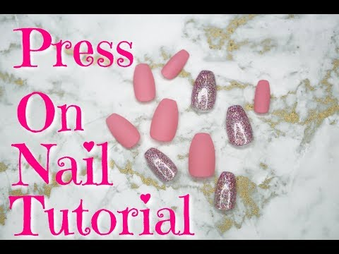 Pink Matte & Holo Glitter Gel | Press On Nails | 2018 | DivaDollFlawless