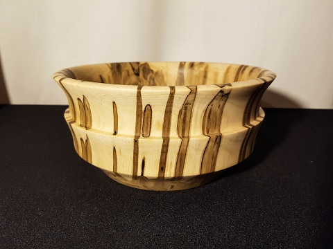 Woodturning end grain ambrosia bowl
