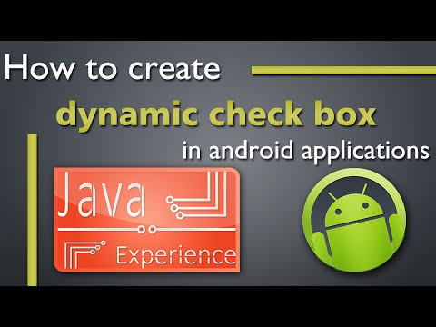 How to create dynamic check box in android