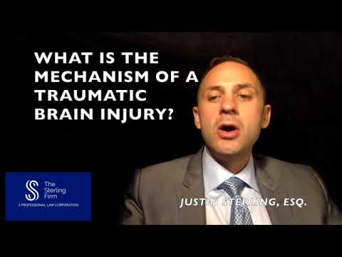 WHAT IS THE MECHANISM OF A TRAUMATIC BRAIN INJURY?