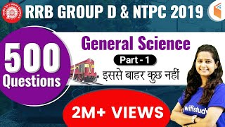 RRB Group D & NTPC 2019 | GS by Shipra Ma'am | 500 Expected Questions (Part-1)