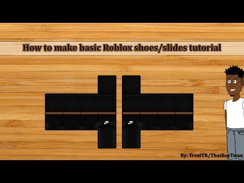 ROBLOX: How to make basic drawn shoes/slides tutorial