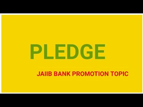 Pledge in Hindi,Jaiib General banking Bank exam IBPS