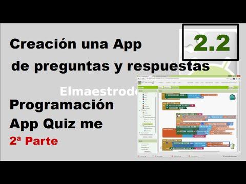 2.2 Programación con bloques de la App Quiz me con App Inventor 2