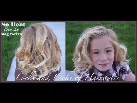 Rag Curls:  Beachy waves and curls with fabric strips and no heat tutorial