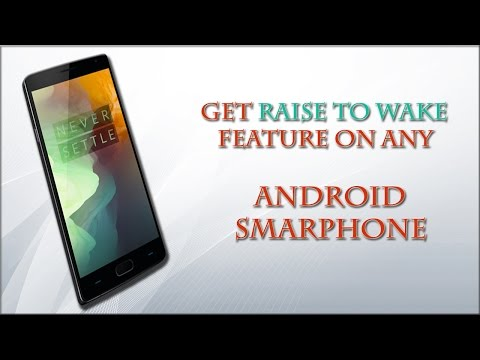 Get RAISE TO WAKE || feature || on any  || android smartphone.!!