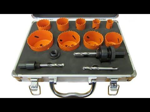Bi Metal Hole Saw Kit - Drilling through metal & wood