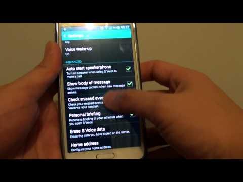 Samsung Galaxy S5: How to Erase S Voice Data