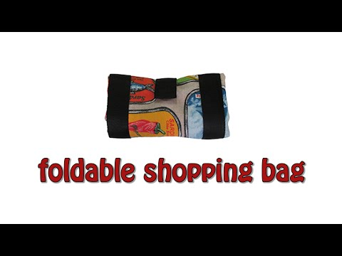 How to make a foldable shopping bag - DIY sewing project - #6