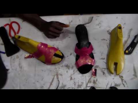 Handmade summer slippers making