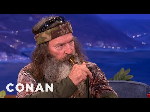 Duck Commanders Teach Conan To Make Duck Calls - CONAN on TBS