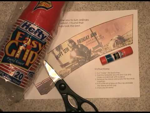 Halo Cup Sleeve Instructions