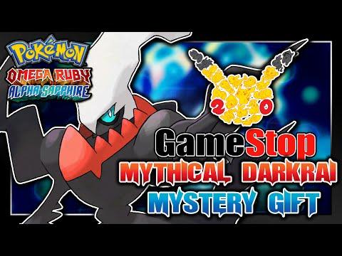 Pokémon Omega Ruby & Alpha Sapphire - GameStop 20th Anniversary Darkrai Serial Code Event!