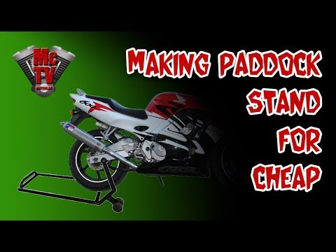 Homemade paddock stand under $10