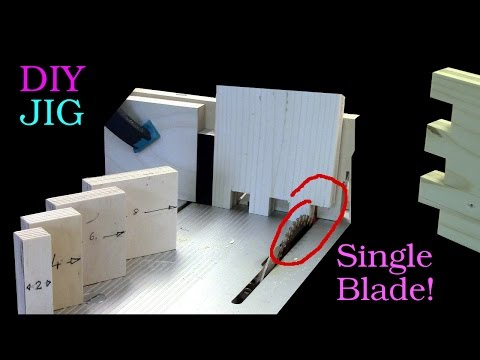 How to Make Finger Joints on a Table Saw with a Single Blade