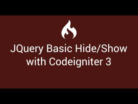 12 Jquery Basic hide and show with Codeigniter 3