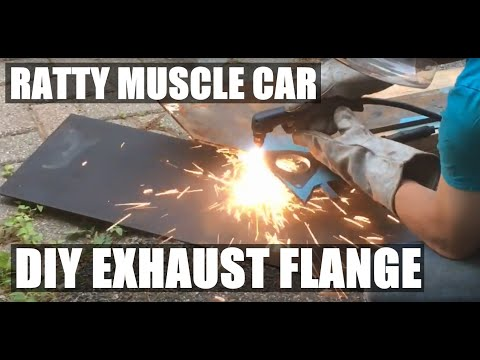 EP.33: Ratty Muscle Lemans. Make an Exhaust Flange From Scratch