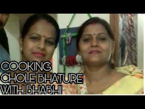 COOKING WITH BHABHI | CHOLE BHATURE by bhabhi | Vlog 2 | Madhavi vlogs
