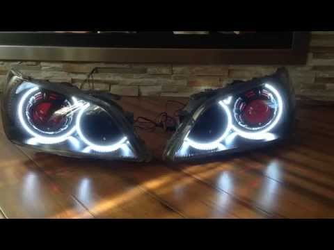Lexus IS300 IS200 Custom Projector Headlights by ExtremeDesignz fully loaded with mods!!!