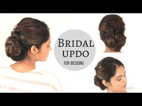 Bridal Hairstyle For Wedding | Low Braid Bun Hairstyle| komal's hairstyle