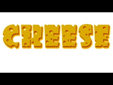 Photoshop tutorial-Cheese text effect