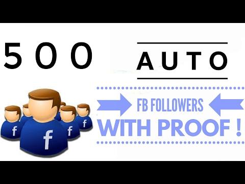 Auto 500 facebook Followers New Easy Method of 2018