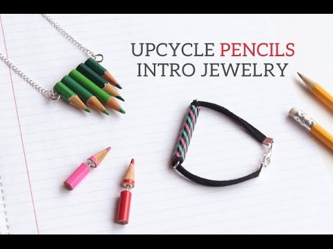 Upcycle Pencils Intro Jewelry | Back to school DIY | Earrings | Necklace | Bracelet