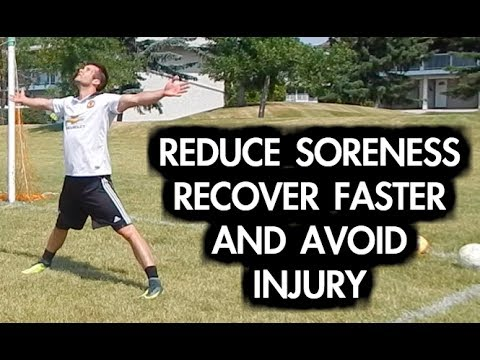 How to reduce muscle soreness | Get rid of leg soreness after soccer or football | Cool down routine
