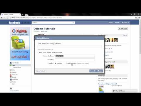 Facebook: How to create a photo album on a facebook page