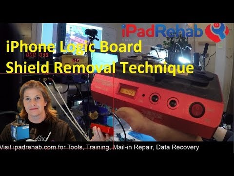 iPhone 7 Logic Board Shield Removal---Bottom Heater Method