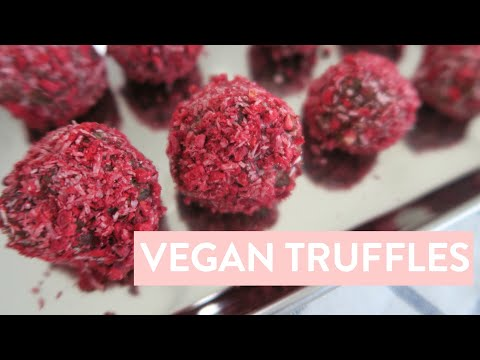 DIY Valentine's Day Treat | Healthy Vegan Truffles Recipe, 6 Ingredients