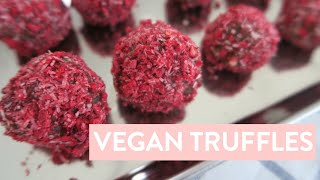 DIY Valentine's Day Treat   Healthy Vegan Truffles Recipe, 6 Ingredients