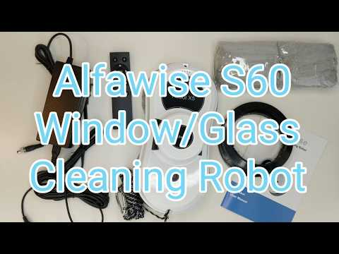 Alfawise S60 Window Cleaner Cleaning Robot in Action!