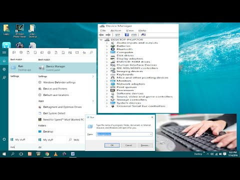 Shortcut Key to Open Run and Device Manager in Windows 10 PC