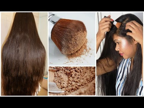 DIY* Dry Shampoo For Dark, Red, Light Hair * How To Apply