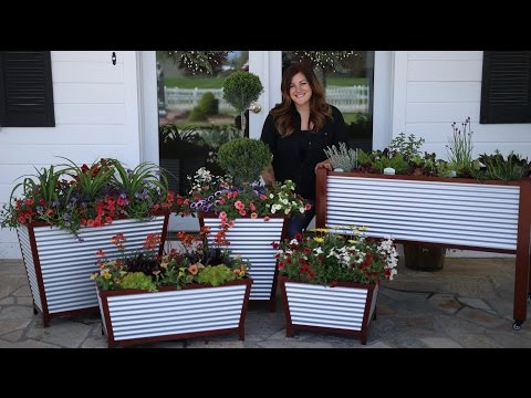 Galvanized Self-Watering Planters // Garden Answer