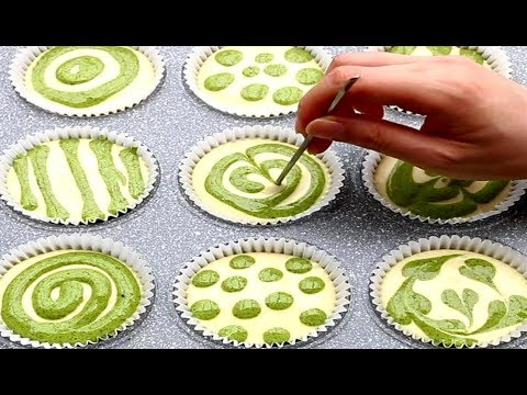 How To Make Matcha Swirl Cupcakes | Cotton Soft Sponge Cake Recipe