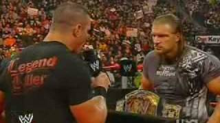Triple H and Randy Orton Face Off