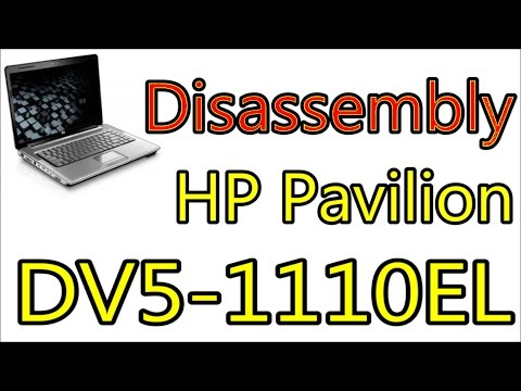 How To Open & Clean Fan HP Pavilion DV5-1100 [ DV5-1110EL ] | Disassembly Notebook