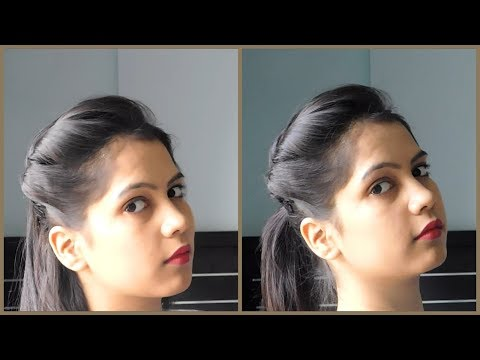 How To Make Side Puff Hairstyle With Tips And Tricks | 1 Minute Side Puff With Ponytail hairstyle