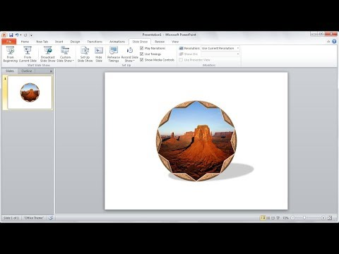 Powerpoint training |How to Create a Photo Frame with Shapes in Powerpoint