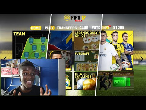 FIFA 17 MOBILE INTERFACE ?!! ANOTHER ONE !!!