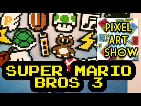 Perler Bead Tutorial: Super Mario Bros 3 Project - Pixel Art Show
