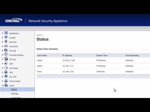 SonicWALL Single Sign On SSO Demonstration