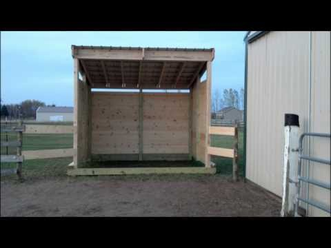 Building Lean Barn or Shelter on Skids